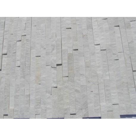Panel Kamienny 60x15 kwarcytowy biały ,połysk