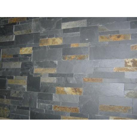 Panel Kamienny 35x18 - Kolor grafitowy z przerostami