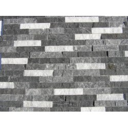 Panel Kamienny  60x15 bazaltowy, kwarcytowy, grafitowo biały