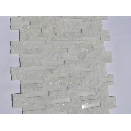 Panel Kamienny 60x15 kwarcytowy biały błyszczący