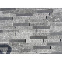 Panel Kamienny 60x15 granitowy ciemny popiel błyszczący