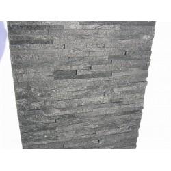 Panel Kamienny 60x15 czarny , błyszczący
