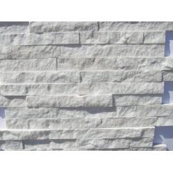 Panel kamienny 55x15 cm biały połysk