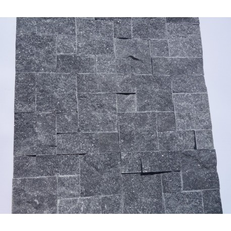 Panel dekoracyjny granitowy ciemno-szary błyszczący - Panel kamienny 50x20 cm