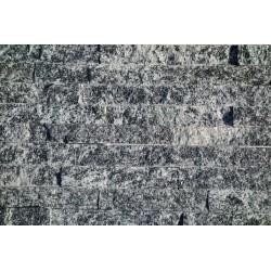 Panel dekoracyjny granitowy ciemno-szary błyszczący - 15x60 cm Fala