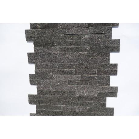Panel dekoracyjny granitowy czarny  - 15x60 cm - diamond