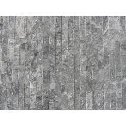 Panel Kamienny 60x15 grafitowo popielaty z białymi przebarwieniami
