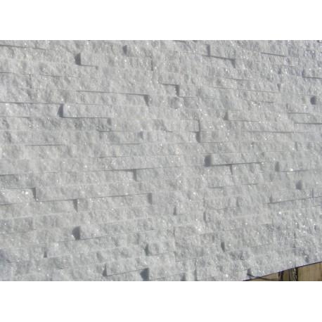Panel Kamienny 60x15 śnieżnobiały, błyszczący